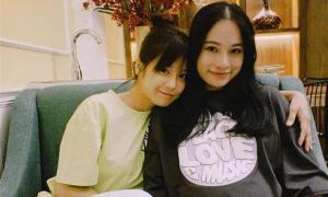 Mới chỉ ở giữa tháng thai kì, Sara Lưu tăng cân chóng mặt