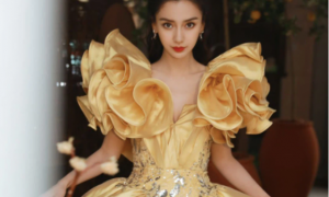 Angelababy hóa công chúa xinh đẹp, phớt lờ Huỳnh Hiểu Minh