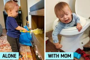 Tại sao trẻ 'quậy' khi ở cạnh cha mẹ