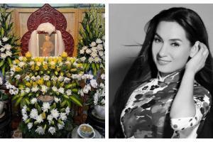 Xúc động hình ảnh bàn thờ đặc biệt của Phi Nhung với dàn hoa tiễn biệt yêu thương do một fan miền Tây tự tay làm